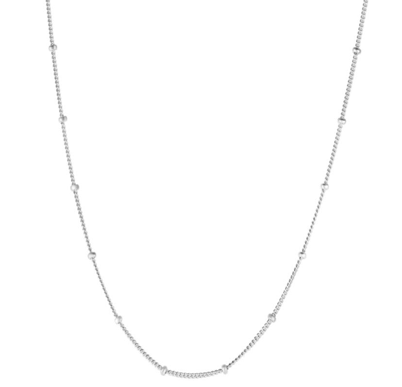 Single Beaded Chain - Silver