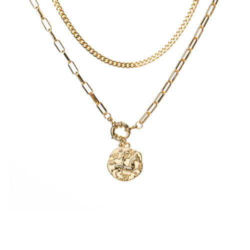Roman gold coin necklace