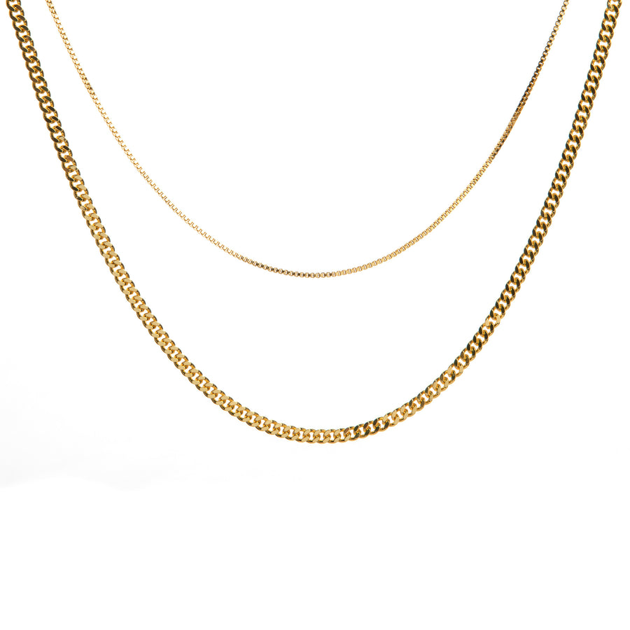 multi layered gold necklaces