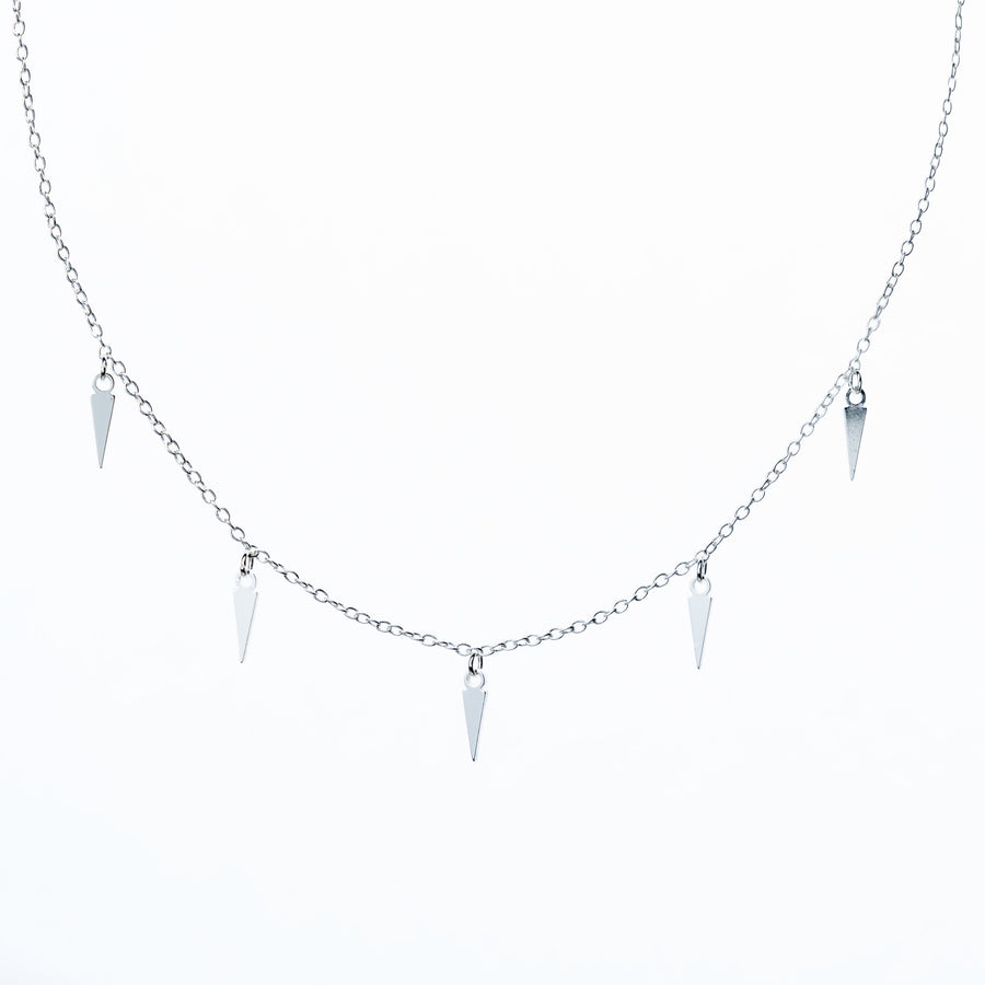 Claw Drop Necklace - Silver