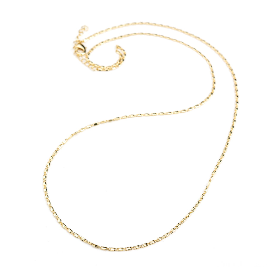 Lariat Gold Chain 14 inch