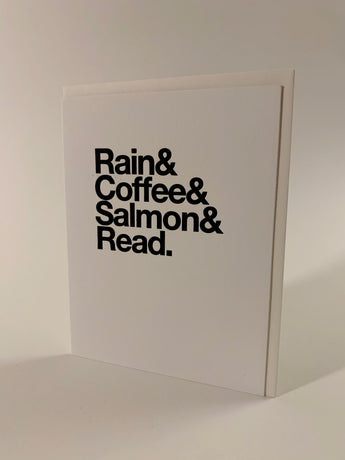 Rain & Coffee & Salmon & Read card