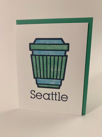Seattle Coffee icon card