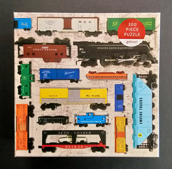 Vintage Toy Trains Puzzle
