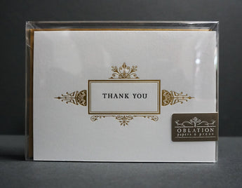 Guilded Thank You Card Box Set