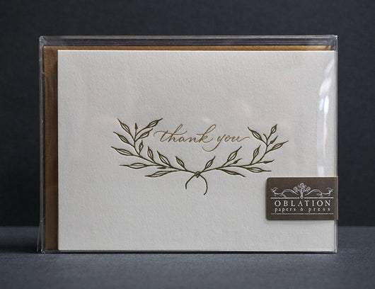 Leafed Thank You Card Box Set