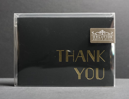 Art Deco Thank You Card Box Set