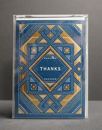 Blue and Gold Thank You Card Box Set