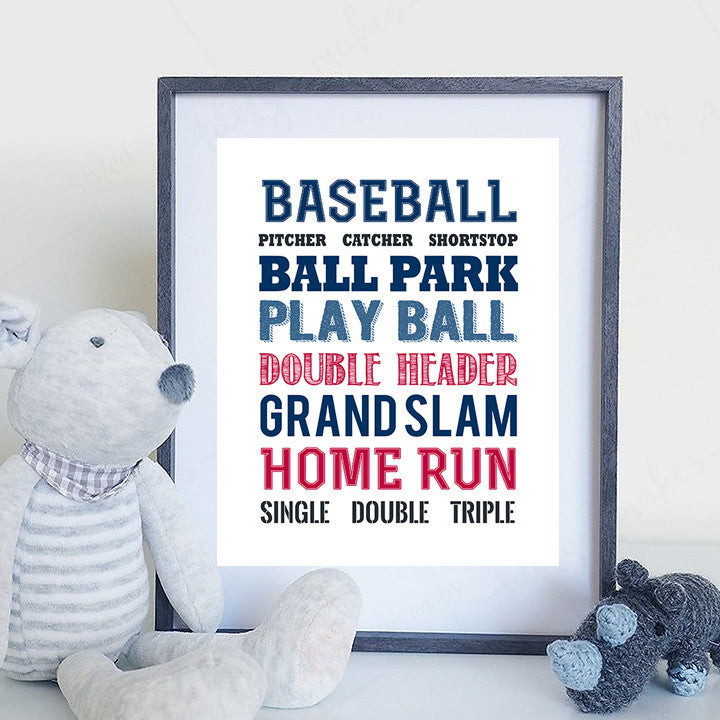 Baseball Print for Child's Bedroom