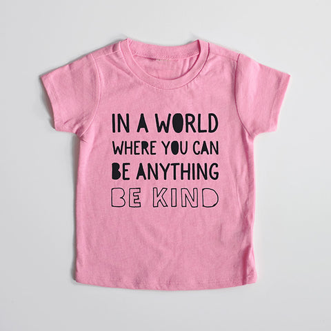 """Be Kind"" Pink Child T-Shirt"