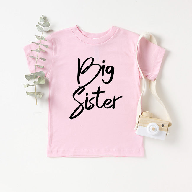 """Big Sister"" Pink Child T-Shirt"