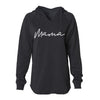 Mama - Ladies Black Fleece Hoodie Sweatshirt