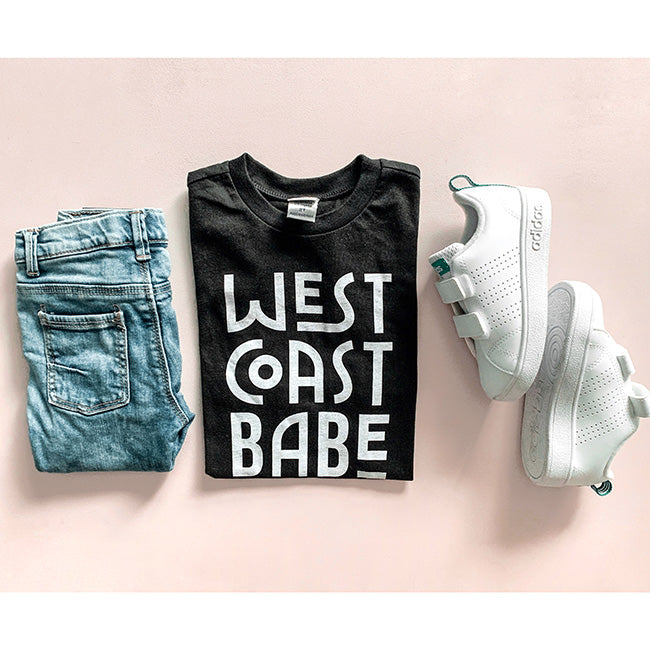 """West Coast Babe"" Black Child T-Shirt"