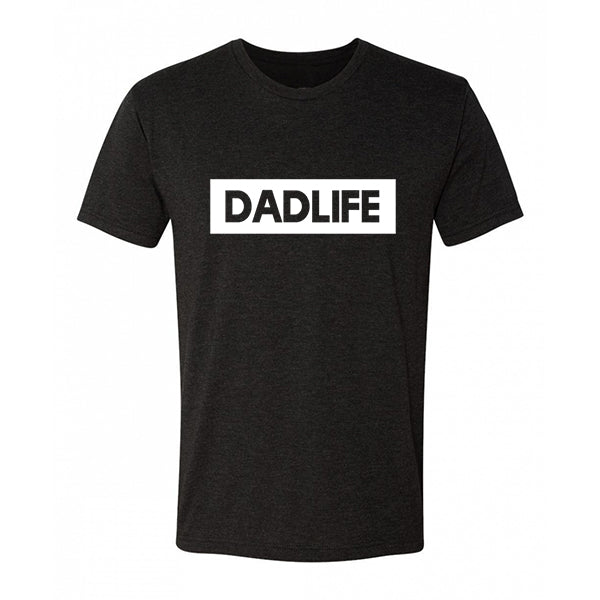 """Dad Life"" Adult T-Shirt - Triblend Dark Charcoal Mens Tee"