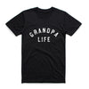 """Grandpa Life"" Triblend Charcoal Adult Mens Tee"