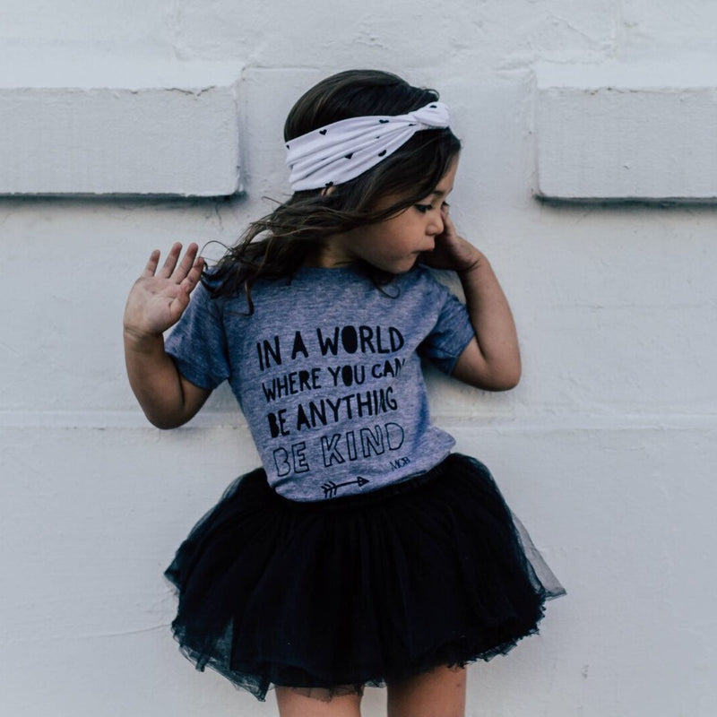 """Be Kind"" Child T-Shirt Grey - Size 6-12 Months"