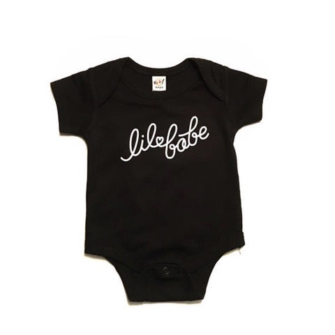 """Lil Babe"" Black Child Onesie"