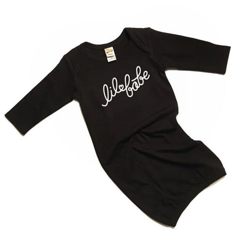 "SALE ""Lil Babe"" Black Child Sleep Gown - 6 Months Only"