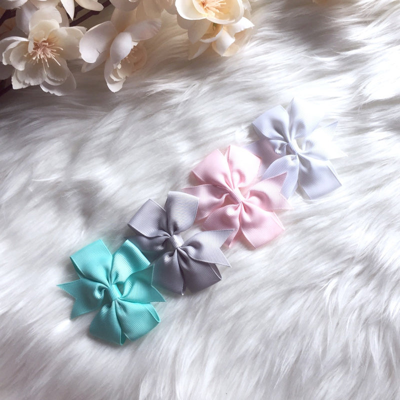 4 PC Ribbon Bow Clip Combo
