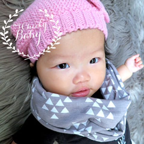 Grey with White Triangle Child Scarf