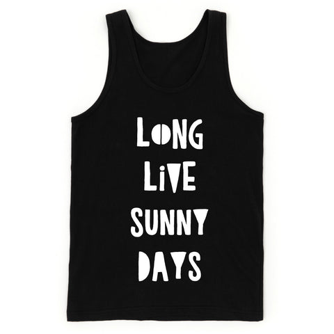 "SALE ""Long Live Sunny Days"" Black Child Tank Top"