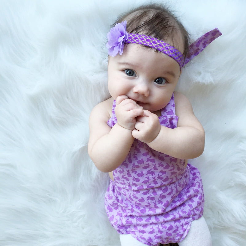 Mini Purple Flower Headband