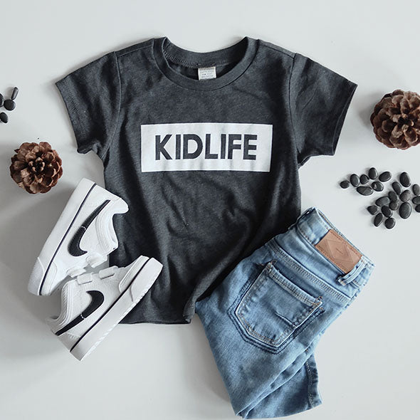 """Kidlife"" Child T-Shirt Dark Heather Charcoal"