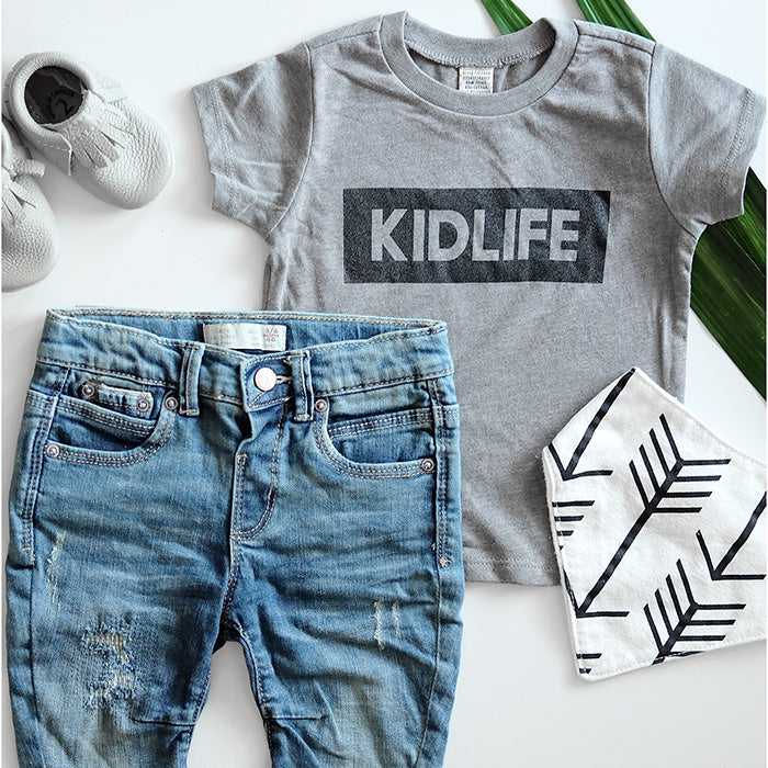 """Kidlife"" Grey Child T-Shirt - 18 Months"