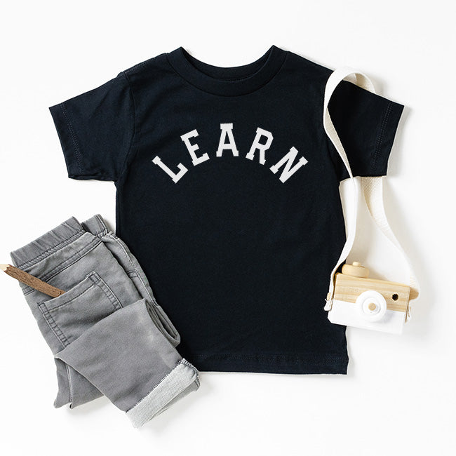 """Learn"" Black Child T-Shirt"