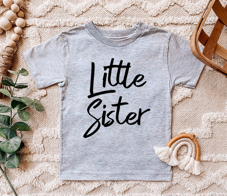 """Little Sister"" Grey Child Bodysuit or T-Shirt"