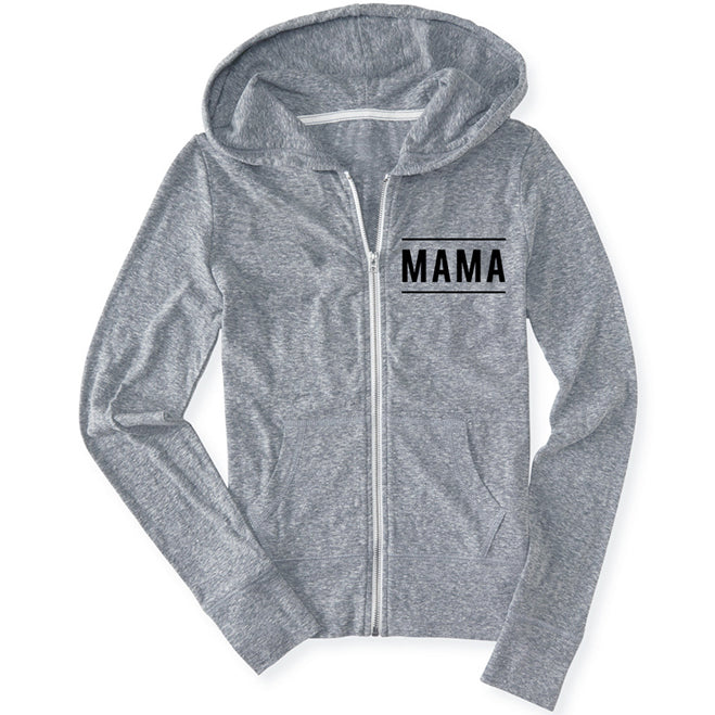 "SALE ""Mama"" Ladies Lightweight Zip Hoodie Sweatshirt"