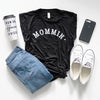 Mommin' Ladies Black Rolled Sleeve Hi-Lo Shirt