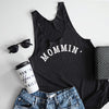 Mommin' Ladies Black Racerback Tank Top