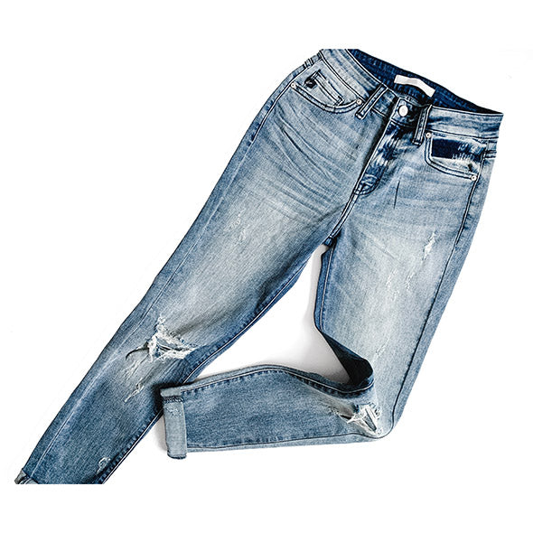 """Olivia"" - Adult Distressed Ripped Boyfriend Jeans"