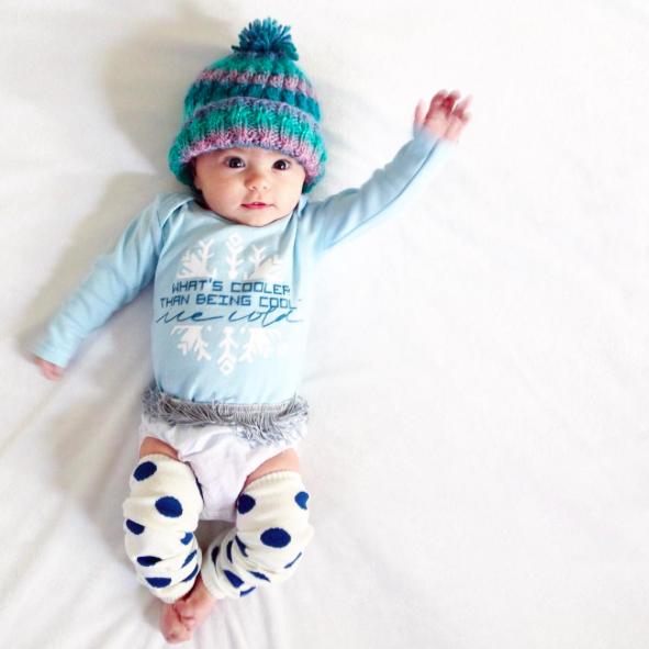 SALE Cream + Blue Dot Leg Warmers
