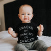 """Snacks on Snacks on Snacks"" Black Child T-Shirt"