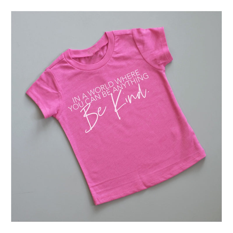 "SALE ""Be Kind"" Child T-Shirt Berry Pink - Baby/Toddler/Big Kid Sizes"