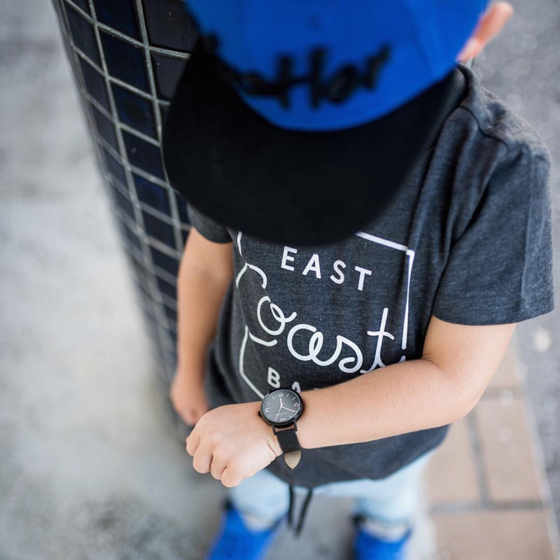 "SALE ""East Coast Babe"" Child T-Shirt Dark Charcoal"