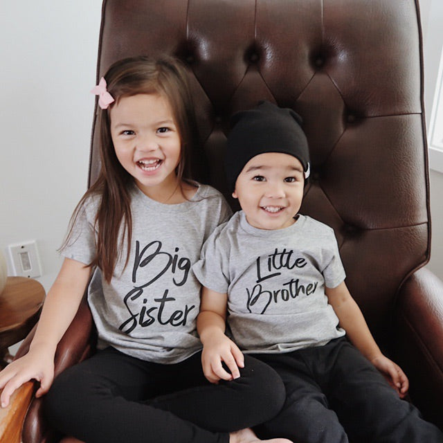 """Big Sister"" Grey Child T-Shirt"