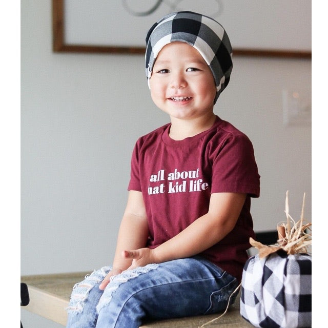 """All about that kid life"" Maroon Child T-Shirt"