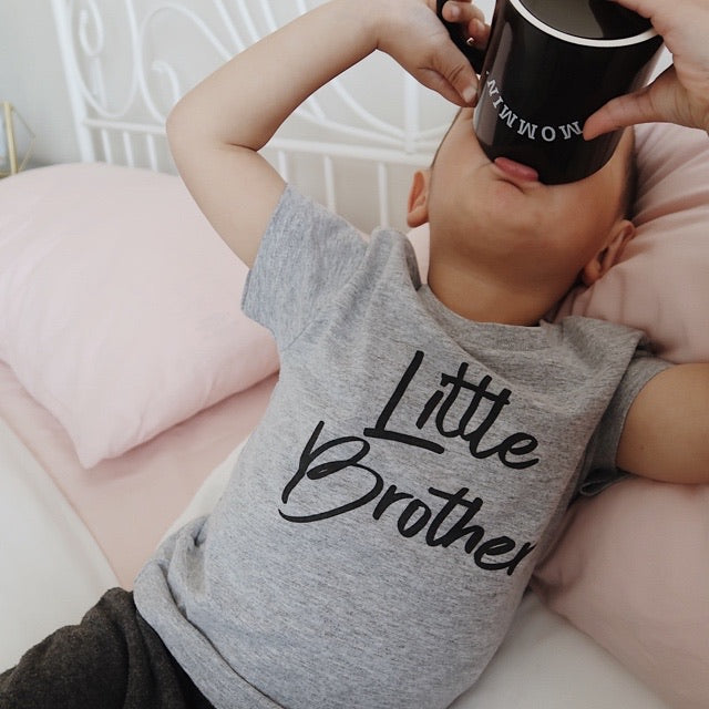 """Little Brother"" Grey Child T-Shirt or Bodysuit"