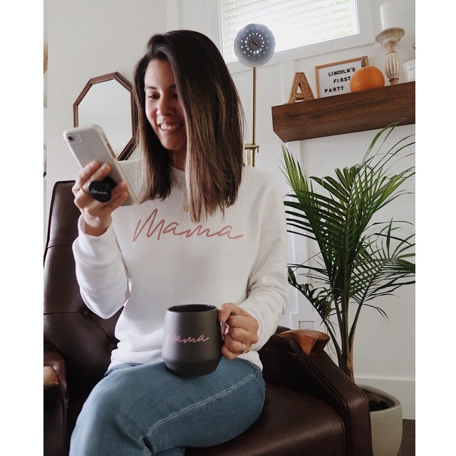 Rose Gold Mama - Ladies White Crewneck Adult Sweatshirt