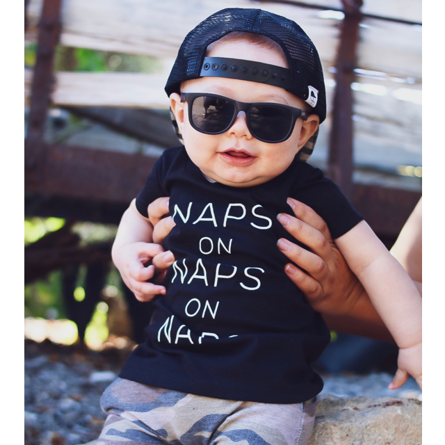"""Naps on Naps on Naps"" Black Child T-Shirt"