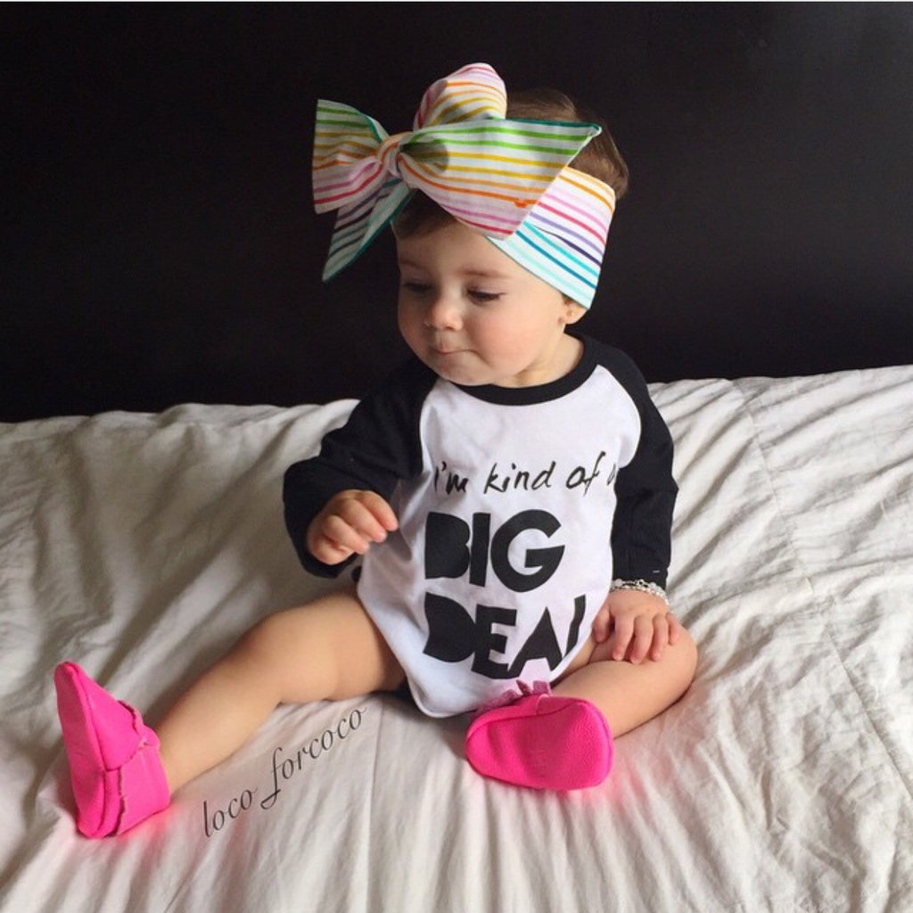 "I'm Kind of a Big Deal"" Children's Raglan Shirt"