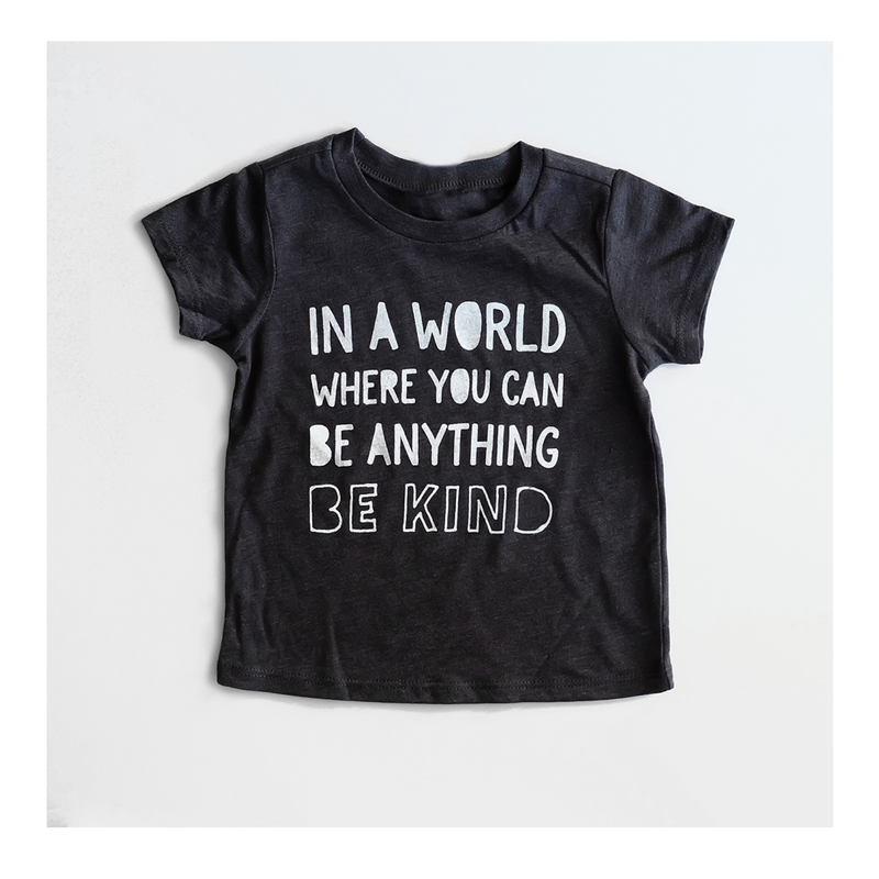 """Be Kind"" Child T-Shirt Dark Grey - Baby/Toddler/Big Kid Sizes"