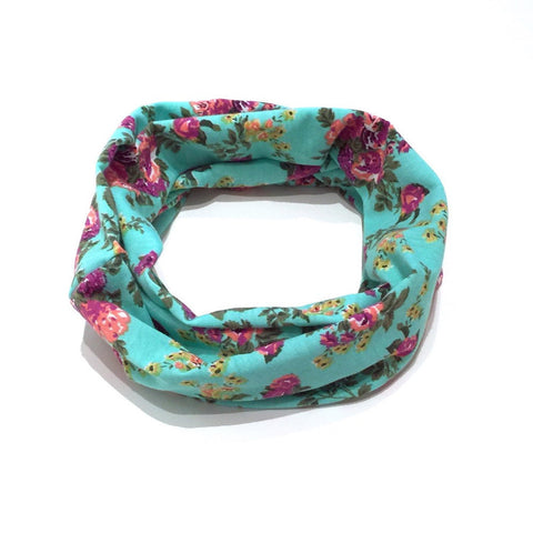 Turquoise Floral Child Scarf