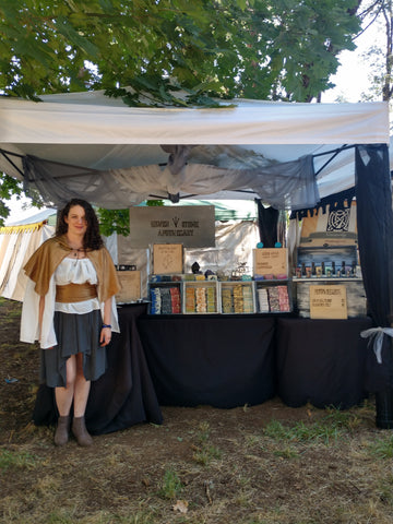 Apothecary display at renaissance faire