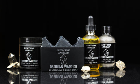 Obsidian Warrior skin care line for problematic skin