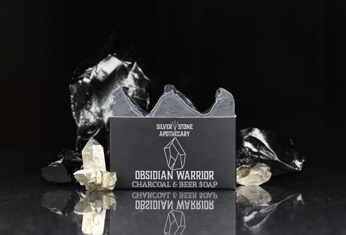 Obsidian Warrior Charcoal and Beer Soap