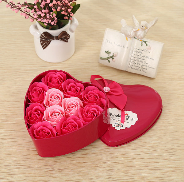 1 pcs 11.5CM Valentine's Day Rose Flower Soap Love Creative Valentine Gift